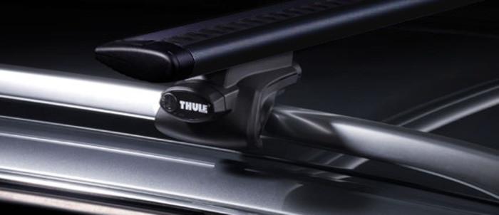 Багажник Thule-757 WingBar Black (алюминиевый плоский) на рейлинги