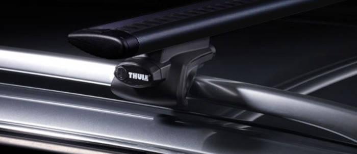 Багажник Thule-757 WingBar Black (алюминиевый плоский) на рейлинги, фото 2