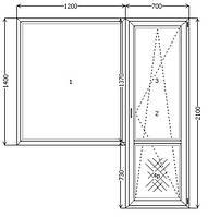 Балконный блок 700*2100