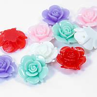 Бусины из Смолы, Цветок, Цвет: Микс, Размер: 20х10мм, Отверстие 1мм, (УТ100006353)