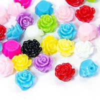 Бусины из Смолы, Цветок, Цвет: Микс, Размер: 6x4мм, Отверстие 1мм, (УТ100005993)
