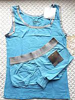 Комплект для сна Calvin Klein майка и трусики, голубой M
