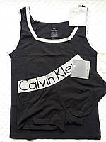 Комплект для сна Calvin Klein майка и трусики, черный, фото 1