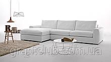 Белый кожаный раскладной угловой диван WILD фабрика ALBERTA (Италия)