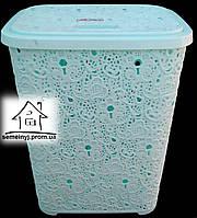 Корзина/Бак для белья Elif Plastik Ажур (мятная) 65 л