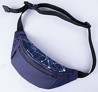 Синяя поясная сумка TwinsStore с созвездиями, Б24