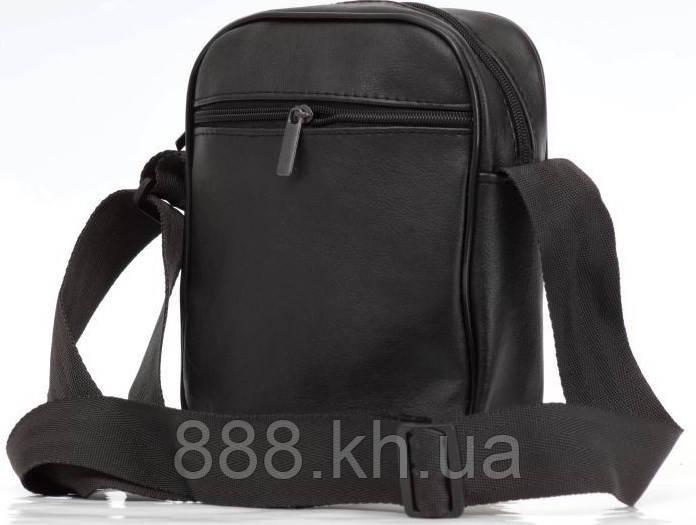 fcd7c2e1a3ed ... Мужская кожаная сумка через плече NIKE большая, логотип белый реплика,  фото 4 ...