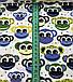 Хлопковая ткань польская обезьянки сине-желто-зеленые на белом, фото 2
