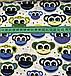Хлопковая ткань польская обезьянки сине-желто-зеленые на белом, фото 3