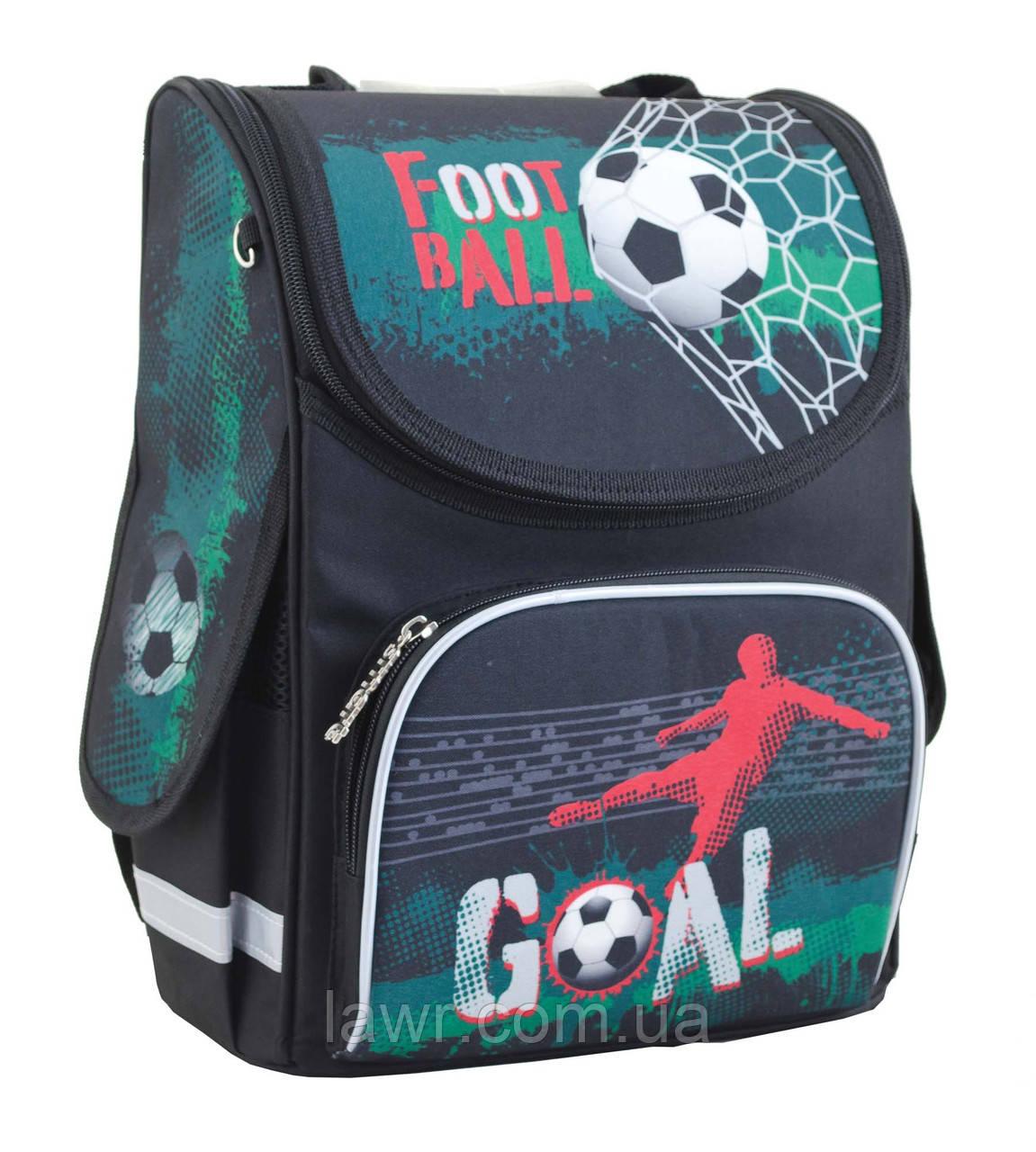 c1ad54c11d94 Ранец школьный каркасный ортопедический ТМ 1 Вересня SMART PG-11 Green  football - Интернет-
