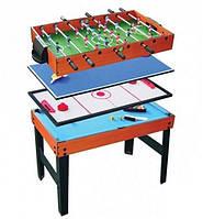 Игровой стол 4 в 1 (аэрохоккей,бильярд,настольный футбол,настольный тенис), фото 1