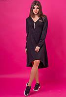 Женское ангоровое платье с удлиненным низом. Размер 46-48,50-52. NM 240