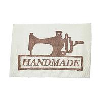 "Бирка текстильная пришивная ""Hand made"", 3,8х2,5 см (5 шт)"
