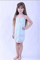 Сорочка, ночная рубашка детская подростковая для девочки польская хлопок голубая Wiktoria W 237