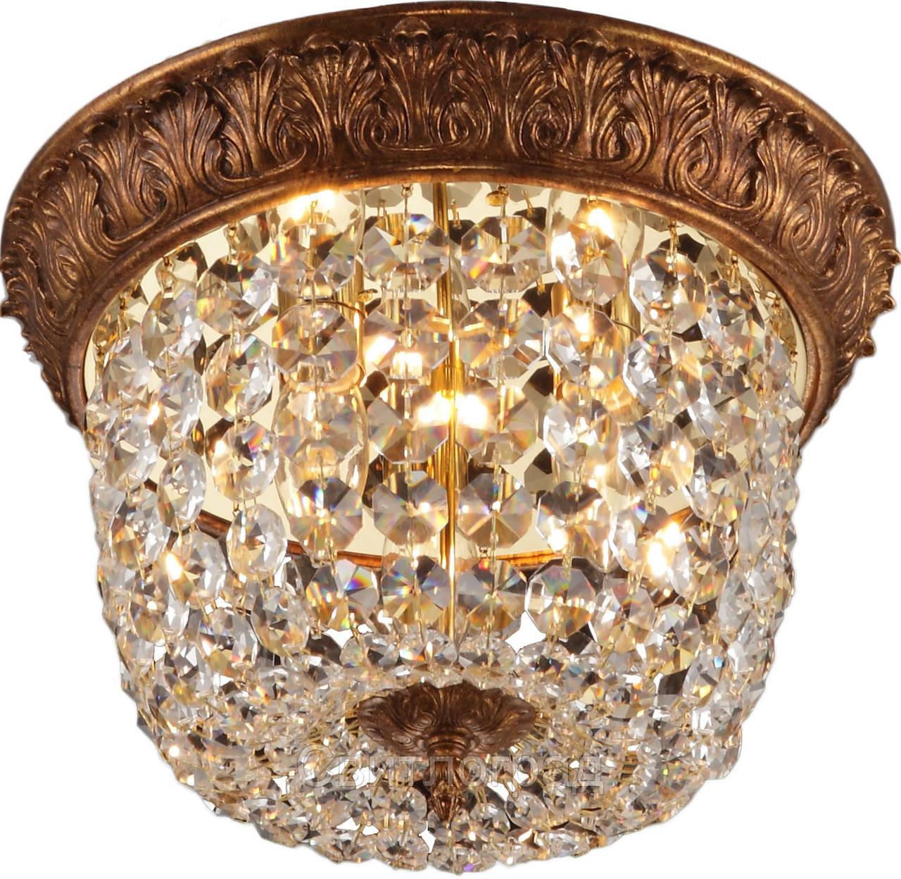 Люстра Хрустальная   Светильник Потолочный Altalusse INL-1095C-03 Gold Coffee Foil