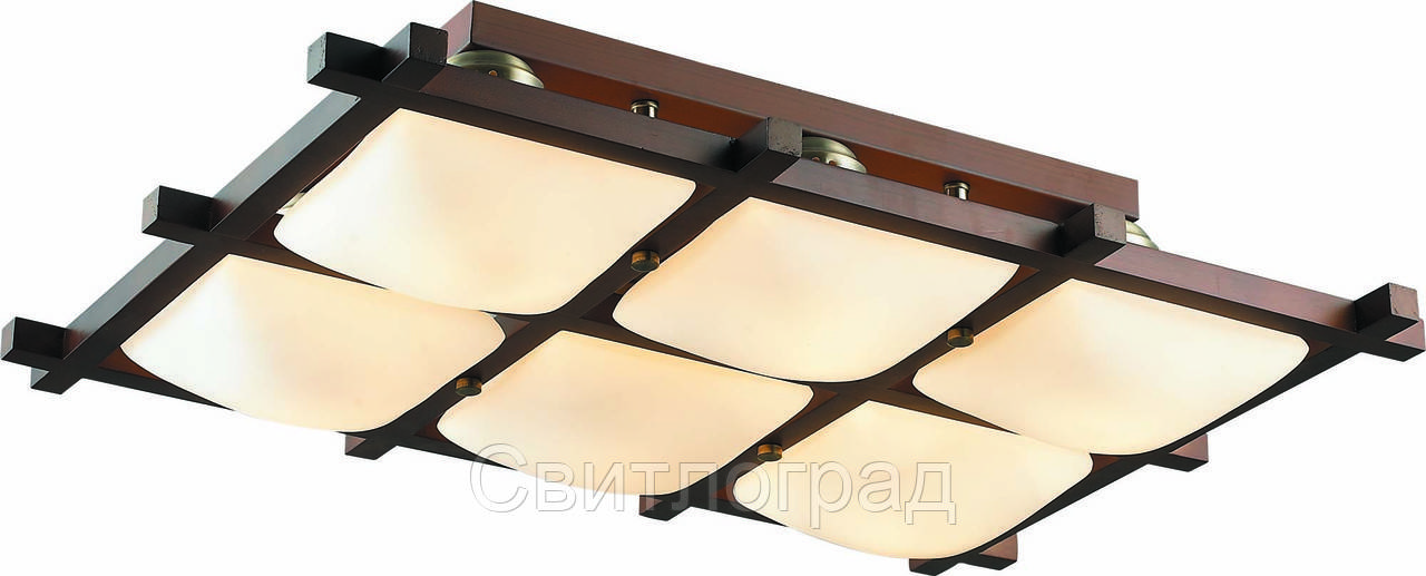 Светильник Потолочный Деревянный    Altalusse INL-3092C-06 Antique Brass & Walnut