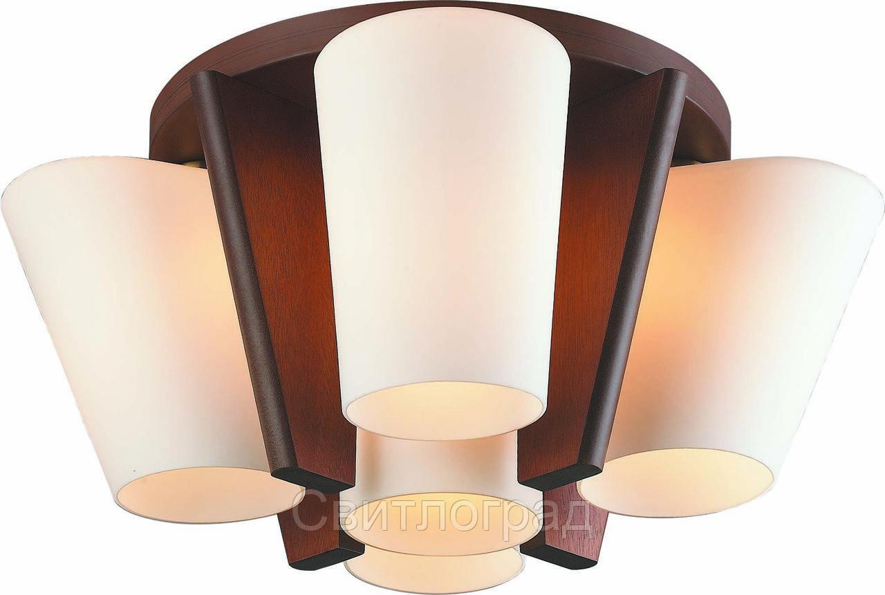 Светильник Потолочный Деревянный    Altalusse INL-3093C-05 Antique Brass & Walnut