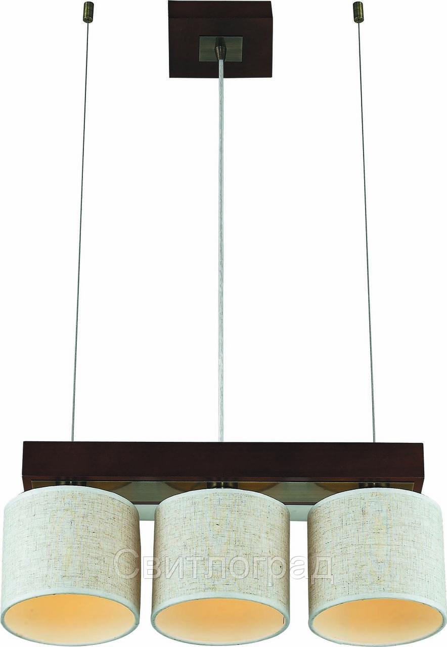 Светильник Подвесной Деревянный    Altalusse INL-3094P-03 Antique Brass & Walnut