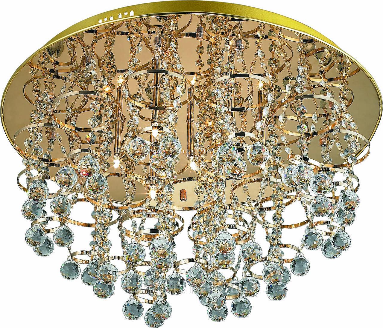 Люстра Хрустальная   Светильник Потолочный Altalusse INL-4103C-19 Gold