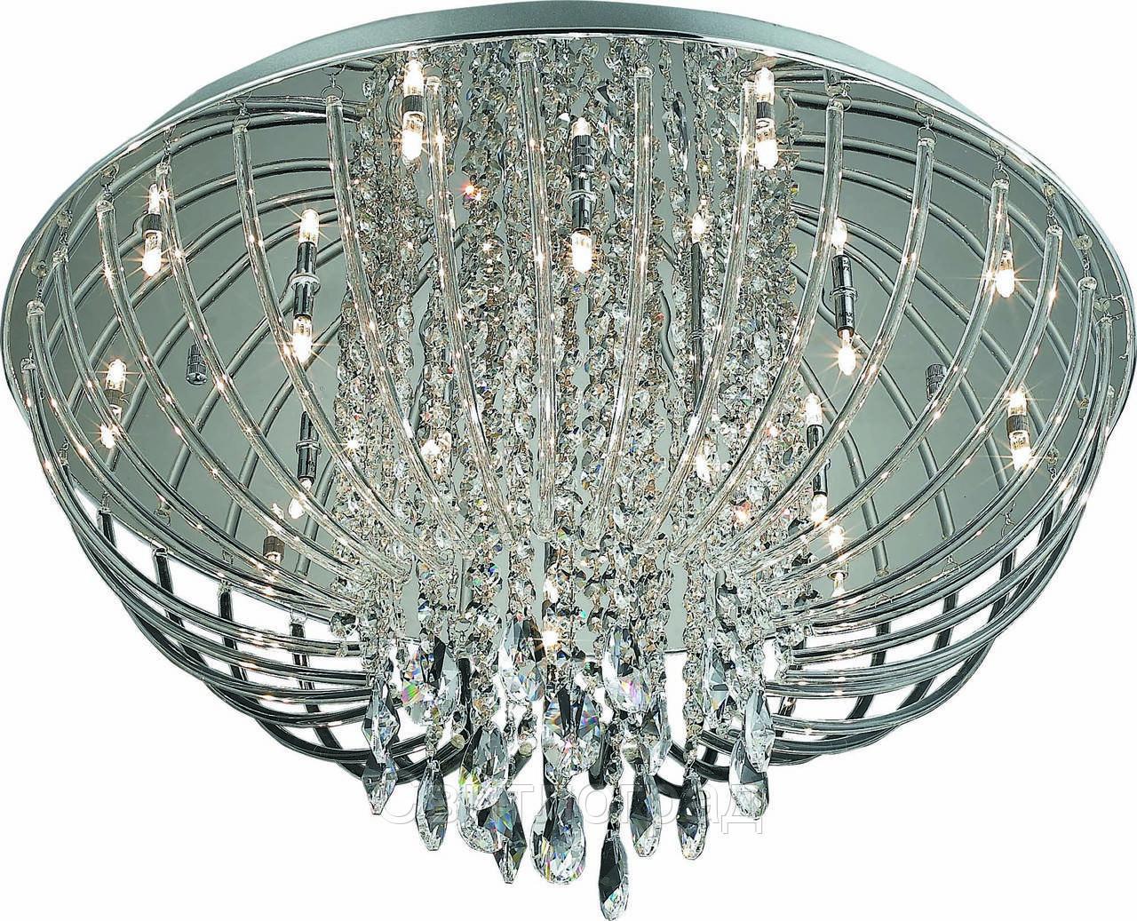Люстра Хрустальная   Светильник Потолочный Altalusse INL-4108C-18 Chrome & LED