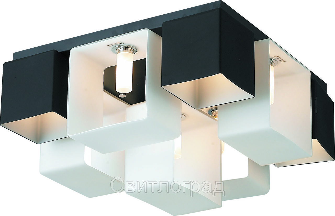 Светильник Потолочный с Плафонами    Altalusse INL-9074C-9 White & Black