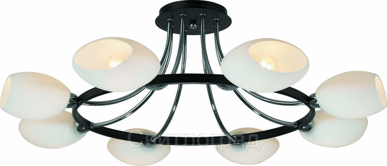 Люстра с Плафонами   Светильник Потолочный Altalusse INL-9209C-08 Chrome & Dark Wenge