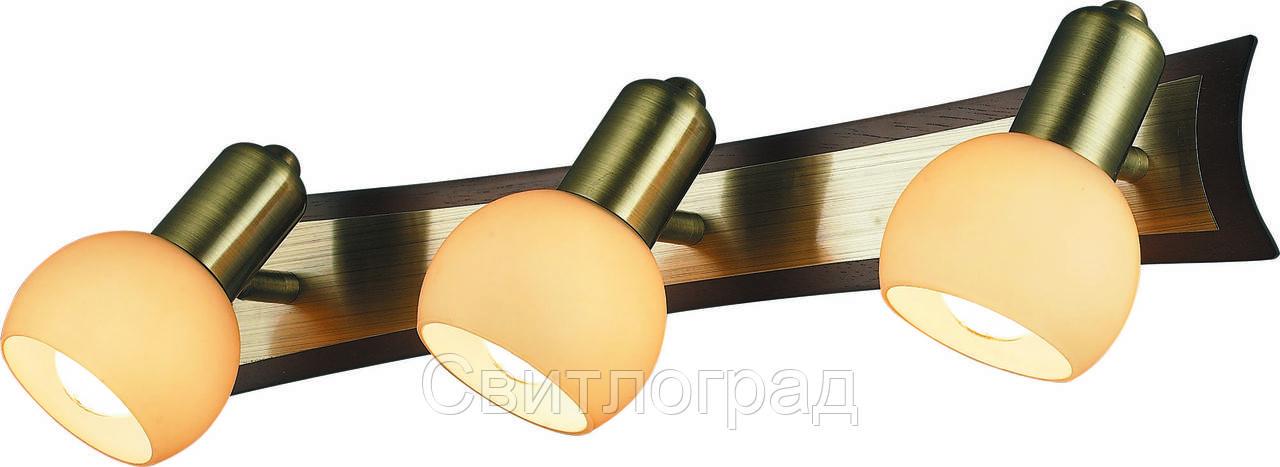 Бра с Плафонами    Altalusse INL-9275W-03 Antique Brass & Walnut