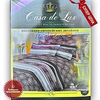 """Полуторный комплект постельного белья """"Casa de Lux 100% хлопок"""" - Индия - 150*220 - Украина"""