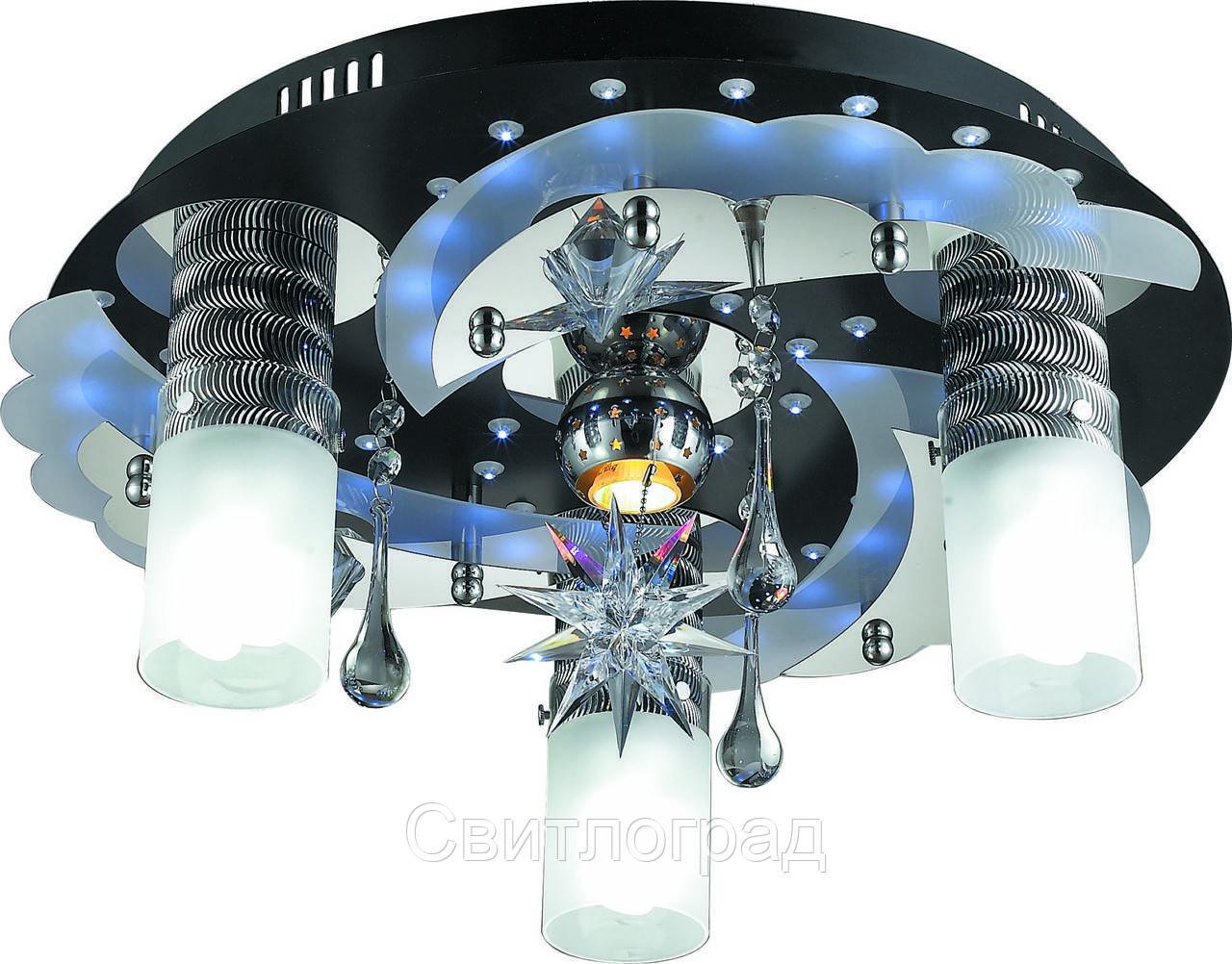 Светильник Потолочный с Led Подсветкой  с Плафонами  Altalusse LV168-04 Aluminium
