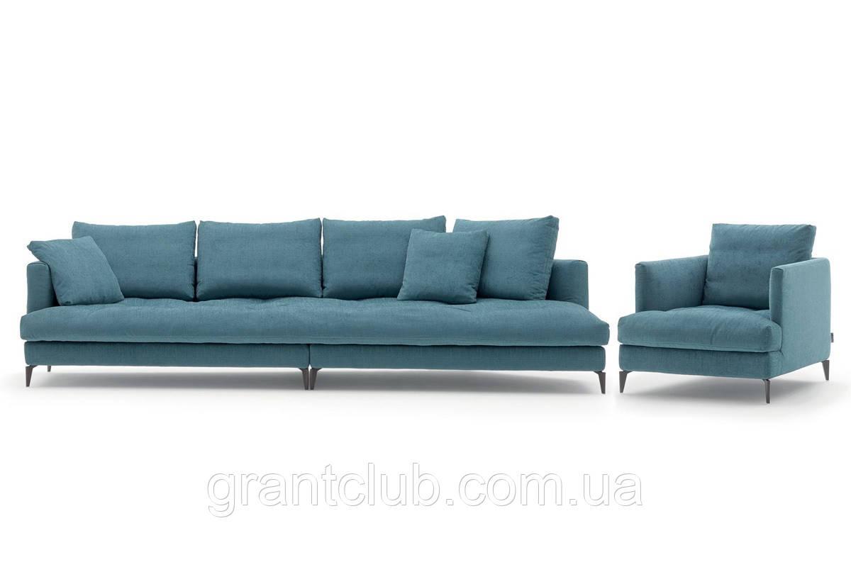 Італійський диван на високих ніжках ALCOVE фабрика ALBERTA
