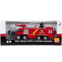 Игрушечные машинки и техника «Big Motors» (SY733) пожарная машина с брандсбойдом (свето-звуковые эффекты)