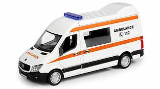 Игрушечные машинки и техника «Uni-Fortune» (554024) скорая помощь Mercedes Benz Sprinter Van, инерционная