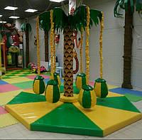 Карусель кокосовая Пальма-8 для детей в помещение,торговый зал,на улицу,парковый аттракцион, фото 1
