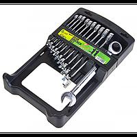 Набор ключей комбинированных трещоточных Alloid НК-2081-11 8-19 мм