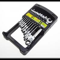 Набор ключей комбинированных трещоточных с карданом Alloid НК-2081-11К 8-19 мм