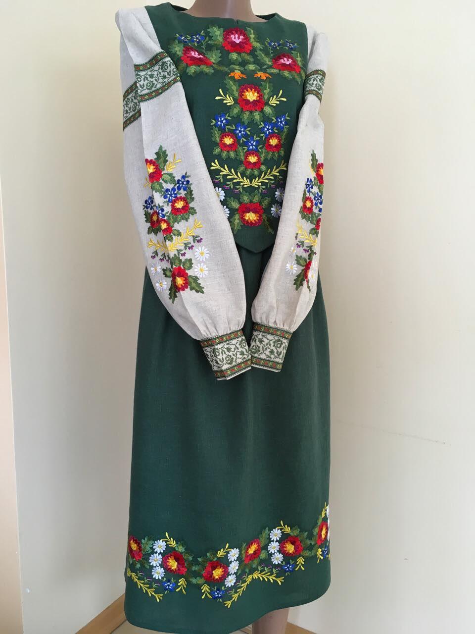 Дизайнерська сукня вишиванка на льоні розмір 44-46 (М-L)  продажа ... 676d96cd45b13