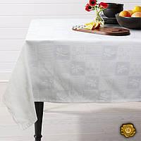 Еней-Плюс Скатерть на круглый стол М5 белая (142)