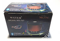 Беспроводная портативная колонка Wster WS-767 Wireless speaker Bluetooth
