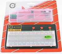 EIC-102BJ (макетная плата 830 контактов на подложке с 3 клмеммами + 70 перемычек)
