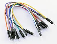 Соединительные провода, упаковка 10штук, 10цветов, длина проводка 150мм
