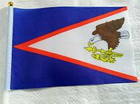 Флажок Американского Самоа 13x20см на пластиковом флагштоке