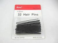 """Заколка для волос""""шпилька"""" (7см.)(чёрная)(32шт.в уп.)"""