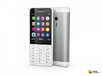 Nokia Телефон Nokia 230 2SIM Silver White 2.8 ' ' SD BT 2MP + 2MP 1200mAh моноблок