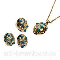 Яркий набор с ювелирной эмалью и кристаллами Swarovski