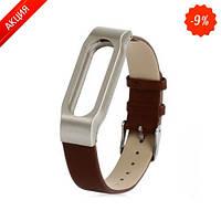Ремешок для браслета  Mi Band Leather Brown (Лицензия) (Xiaomi)