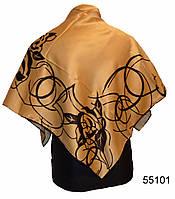 Шелковый кофейный атласный платок, фото 1