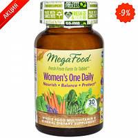 Мультивитамины одна таблетка в день для женщин  30 шт (MegaFood)