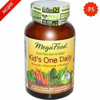 Мультивитамины одна таблетка в день для детей  30 шт (MegaFood)