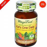 Мультивитамины одна таблетка в день для детей  60 шт (MegaFood)