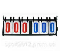 Счетное табло C-0039(006) (3х3, металл, пластик, р-р 55,5см*19см)